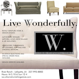 W Home Furnishings - Lafayette, Louisiana - Preferred Interior Furnishings Partner for Warehouse District Lofts